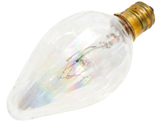 Bulbrite 420115 15F10CL 15W 130V F10 Clear Fiesta Bulb, E12 Base