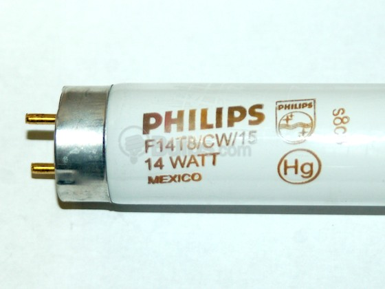 Philips Lighting 259143 F14T8/CW/15 (15 inches) Philips 14 Watt, 15 Inch T8 Cool White Fluorescent Appliance Bulb