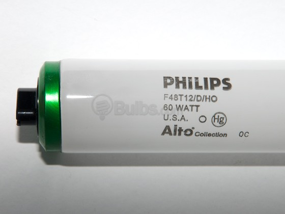 Philips Lighting 369843 F48T12/D/HO/ALTO Philips 60W 48in T12 High Output Daylight White Fluorescent Tube