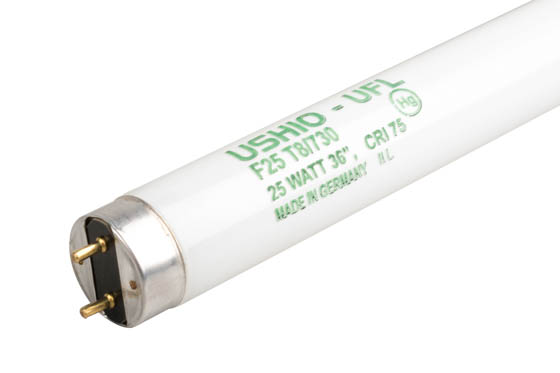 Ushio U3000090 UFL-F25T8/730 25W 36in T8 Warm White Fluorescent Tube