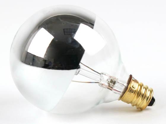 Bulbrite 25W 120V G16 Half Mirror Globe Bulb, E12 Base | 25G16HM ...