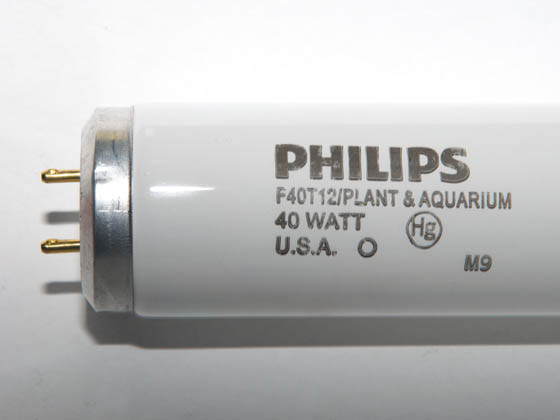 Philips 40w 48in T12 Plant Grow Fluorescent Tube F40
