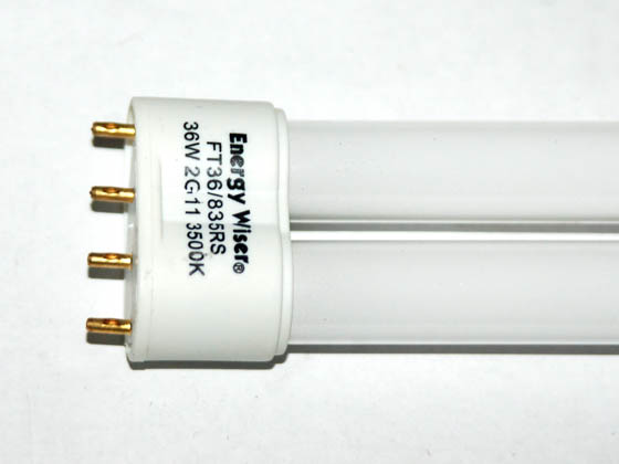 Bulbrite B504538 FT36/835 (4-Pin) 36W 4 Pin 2G11 Neutral White Long Single Twin Tube CFL Bulb