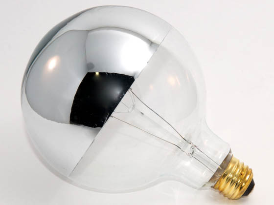 Bulbrite 100w 120v G40 Half Mirror Globe Bulb E26 Base
