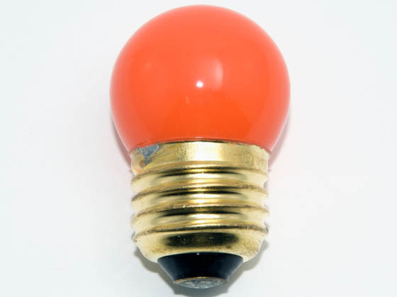 Bulbrite B702507 7.5S11O (Orange) 7.5W 130V S11 Orange Sign E26 Base