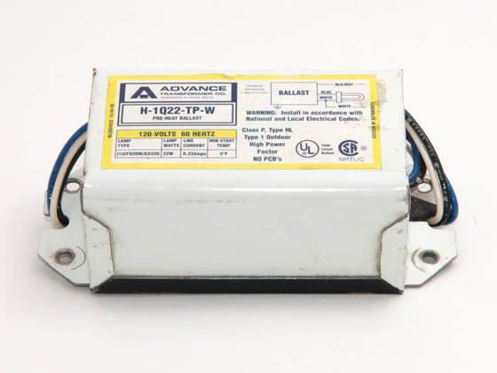 Advance Transformer H1Q22TPWM Philips Advance 22 Watt, 120 Volt One Lamp Plug-in CFL Magnetic Ballast
