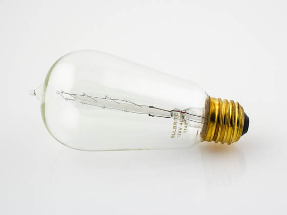 Bulbrite B134018 NOS40-1890 40W 120V ST18 Nostalgic Decorative Bulb, E26 Base