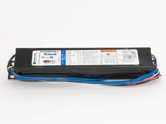 Universal B332IUNVHP-A000I Electronic Instant Start Ballast 120V to 277V for (3) F32T8