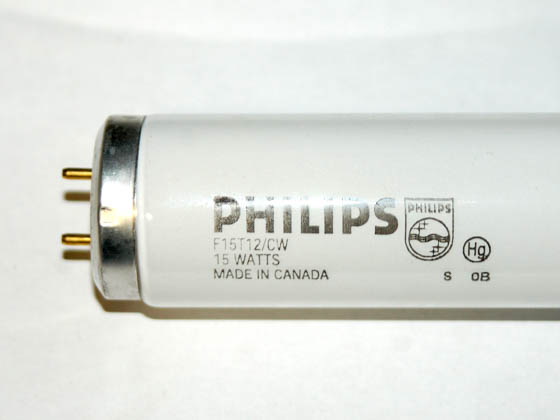Philips Lighting 141499 F15T12/CW Philips 15W 18in T12 Cool White Fluorescent Tube