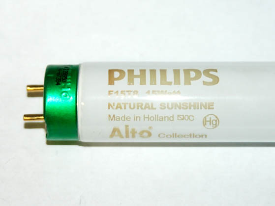 Philips Lighting 392290 F15T8/Natural Sunshine Philips 15W 18in T8 Bright White Fluorescent Tube
