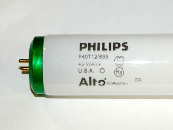 Philips Lighting 142620 F40T12/835 ALTO DISCONTINUED (USE 423186) Philips 40 Watt, 48 Inch T12 Neutral White Fluorescent Bulb