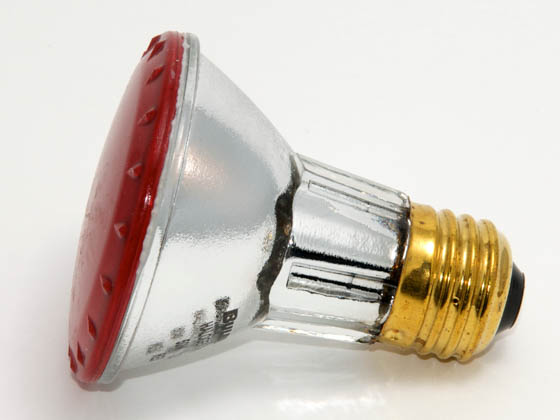 Bulbrite B683507 H50PAR20R (Red) 50W 120V PAR20 Halogen Red Bulb