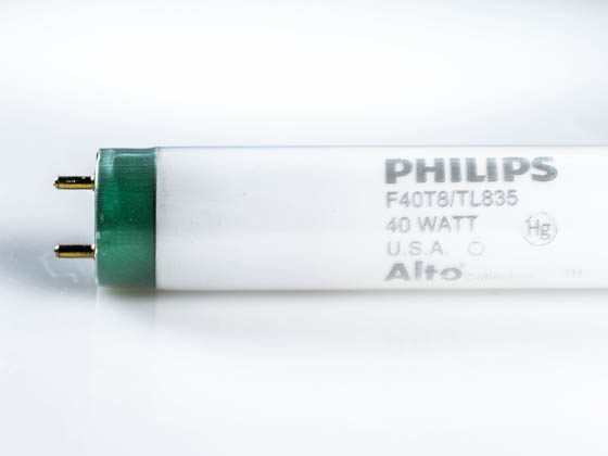 Philips Lighting P368340 F40T8/TL835/ALTO (Safety) Philips 40W 60in T8 Neutral White Safety-coated Fluorescent Tube