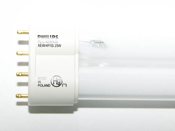 Philips Lighting 209148 PL-L 40W/835/XEW/4P/IS-25W Philips 25W 4 Pin 2G11 Neutral White Long Single Twin Tube CFL Bulb