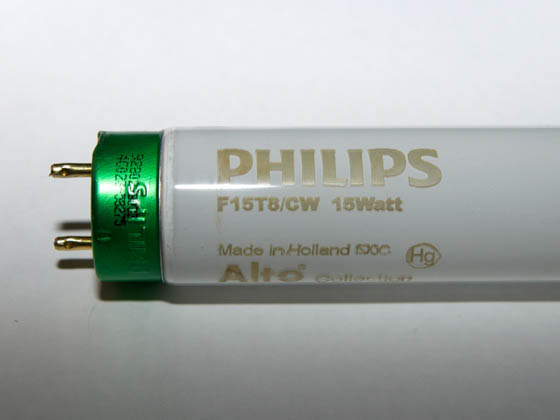 Philips Lighting 407197 F15T8/CW/ALTO Philips 15W 18in T8 Cool White Fluorescent Tube