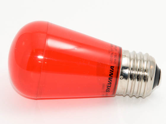 Bulbrite B800061 LEDS14/TR (Trans. Red) 11 Watt Replacement! 1 Watt, LED S14 Transparent Red Sign/Indicator Bulb