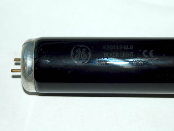 GE GE34747 F20T12/BLB 20W 24in T12 Black Light Blue Fluorescent Tube