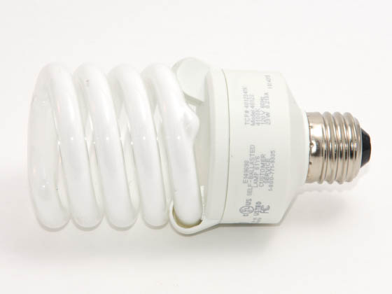 TCP TEC40123-41 23W Spiral CFL (Dimmable, 4100K) 100W Equivalent, 23 Watt, 120 Volt Dimmable Cool White Spiral CFL Bulb.