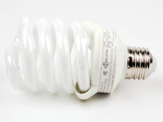 TCP TEC48923-50K 4892350K 23W Bright White Spiral CFL Bulb, E26 Base