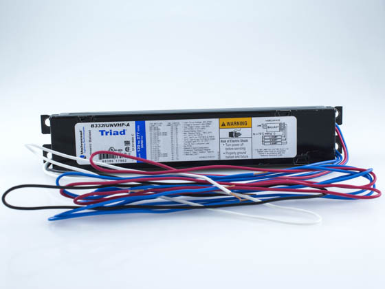 Universal B332IUNVHP-A00LI Electronic Instant Start Ballast 120V to 277V for (3) F32T8