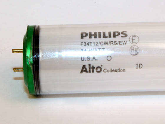 Advanced Lamp Coatings F34T12/CW/PH F34CW/EW/ALTO/SAFETY (DISC) 34 Watt, 48 Inch T12 Cool White Safety Coated Fluorescent Bulb