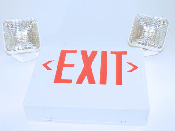 Simkar SK6600269 SCLI2RW Red LED Exit Sign 120 to 277V with Emergency Lights