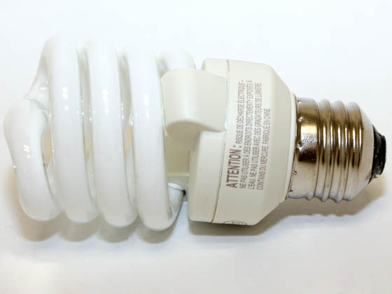 Philips Lighting 413996 EL/mdT2 13W Philips 13W Warm White T2 Spiral CFL Bulb, E26 Base