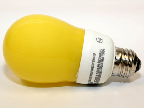 Philips Lighting 817360 BC-EL/A SWP 14W BAW Philips 60 Watt Incandescent Equivalent, 14 Watt, 120 Volt Yellow Bug Lite CFL Bulb