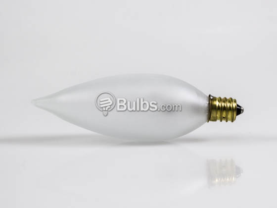 Bulbrite 494025 25CFF/32/2 25W 120V Frosted Bent Tip Decorative Bulb, E12 Base