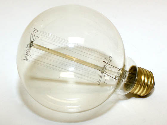 Bulbrite 342040 NOS40G30 40W 120V Clear Antique Replica Globe Bulb, E26 Base