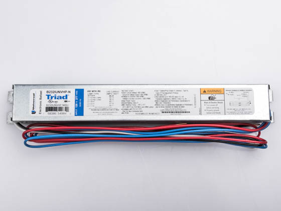 Universal B232IUNVHP-N00LI Electronic Instant Start Ballast 120V to 277V for (2) F32T8