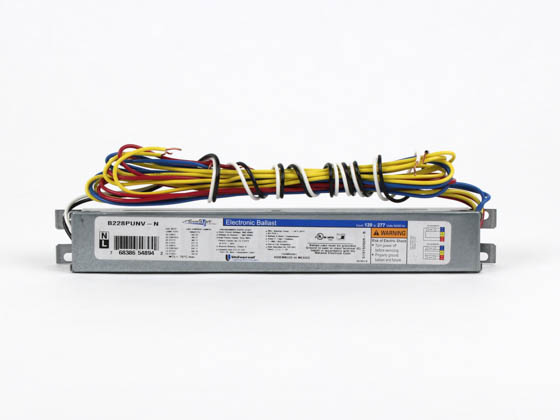 Universal B228PUNV-N010C Electronic Ballast 120V to 277V for (2) F28T5