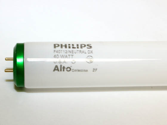 Philips Lighting 423186 F40T12/NX/ALTO Philips 40W 48in T12 Neutral White Fluorescent Tube