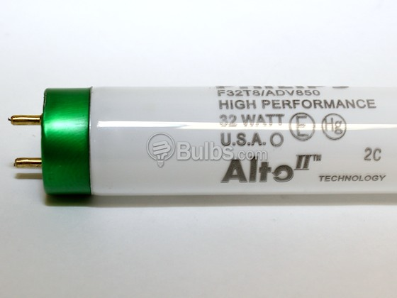 Philips Lighting 280891 F32T8/ADV850/ALTO 32W Philips 32W 48in T8 High Lumen Bright White Fluorescent Tube