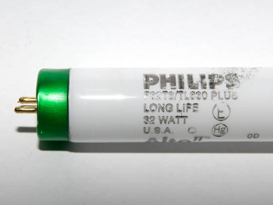 Philips Lighting 281659 F32T8/TL830/PLUS/ALTO 32W Philips 32W 48in T8 Long Life Soft White Fluorescent Tube