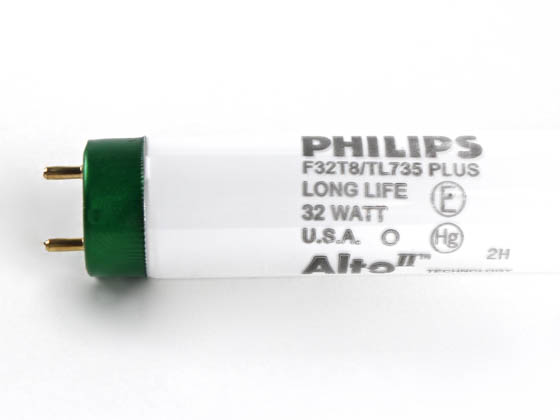 Philips Lighting 281832 F32T8/TL735/PLUS/ALTO 32W Philips 32 Watt, 48 Inch Long Life T8 Neutral White Fluorescent Bulb