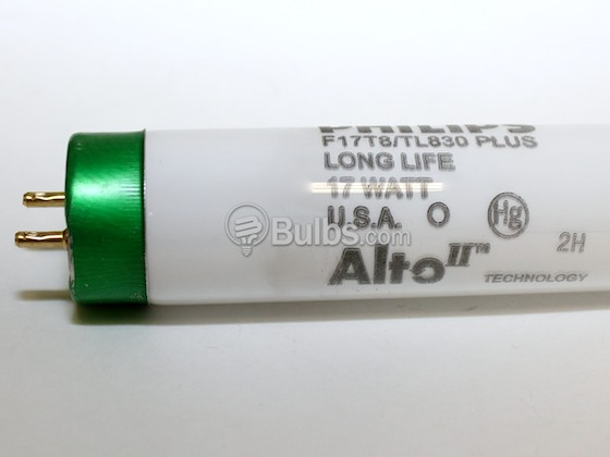 Philips Lighting 280933 F17T8/TL830/PLUS/ALTO Philips 17W 24in T8 Soft White Fluorescent Tube