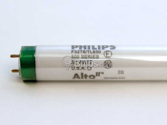 Philips Lighting P281519 F32T8/TL830/ALTO (Safety) Philips 32 Watt, 48 Inch T8 Warm White Safety Coated Fluorescent Bulb