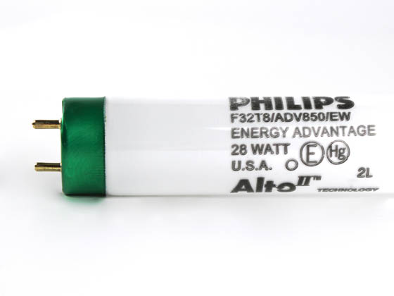 Philips Lighting 281055 F32T8/ADV850/EW/ALTO 28W Philips 28W 48in T8 Long Life Bright White Fluorescent Tube