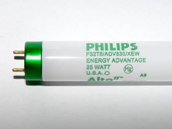 Philips Lighting 282046 F32T8/ADV830/XEW/ALTO 25W Philips 25W 48in Long Life T8 Soft White Fluorescent Tube