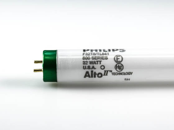 Philips Lighting 281550 (Safety) F32T8/TL841/ALTO (Safety) Philips 32 Watt, 48 Inch T8 Cool White Safety Coated Fluorescent Bulb