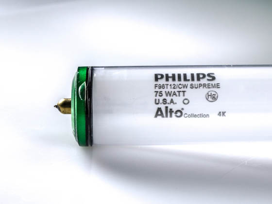 Philips Lighting 423194 (Safety) F96T12/CWSupreme/ALTO (SAFETY) Philips 75 Watt, 96 Inch T12 Cool White Safety Coated Fluorescent Bulb