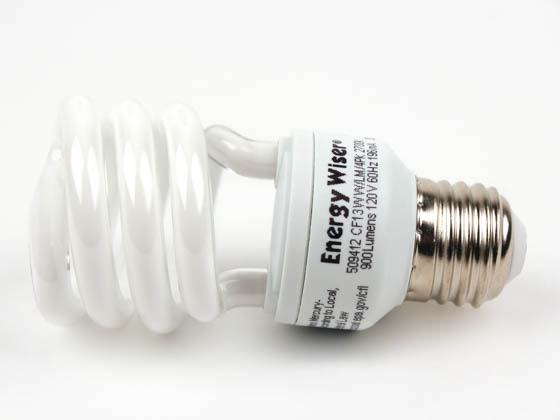 Bulbrite 509412 CF13WW/4PK (DISC USE 509416) 60W Incandescent Equivalent. 13 Watt, 120 Volt Warm White CFL Bulb. Sold in 4-Packs, Priced Per Bulb.