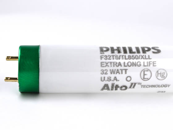 Philips Lighting 281204 F32T8/TL850/XLL/ALTO 32W (DISC USE 434076) Philips 32 Watt, 48 Inch Extra Long Life T8 Bright White Fluorescent Bulb
