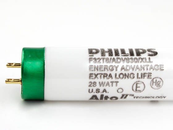 Philips Lighting 281469 F32T8/ADV830/XLL/ALTO 28W Philips 28W 48in T8 Extra Long Life Warm White Fluorescent Tube