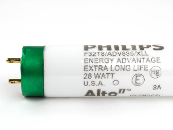 Philips Lighting 281485 F32T8/ADV835/XLL/ALTO 28W Philips 28W 48in T8 Extra Long Life Neutral White Fluorescent Tube