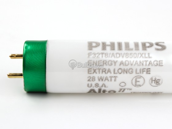 Philips Lighting 281287 F32T8/ADV850/XLL/ALTO 28W Philips 28W 48in T8 Extra Long Life Bright White Fluorescent Tube