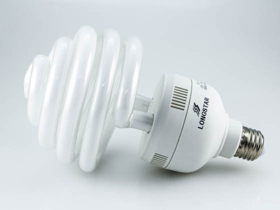 Longstar FE-US-55W-50K Long Star 55W 120V Bright White Spiral CFL Bulb