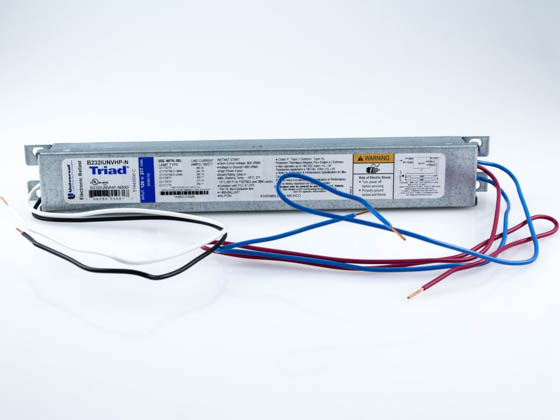 Universal B232IUNVHP-N000I Electronic Instant Start Ballast 120V to 277V for (2) F32T8