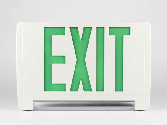 Simkar SCLB2GWRC SK66-00355 LED Exit and Emergency Combo with Lightbar, Green Letters